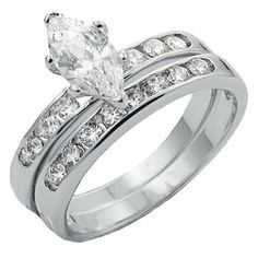 T16 TQW413720ZCH CZ Marquise Cut Wedding Band Set Wedding Sets. $33.95. 1.6 Carat Center Stone. Lifetime Warranty. Beautiful Traditional Design. Non Tarnishing Rhodium Silver Plated. Brilliant Clear Russian Formula Cubic Zirconia