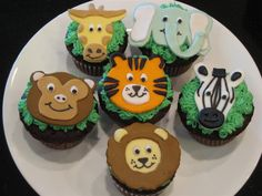 get out the marzapan and start getting creative, to integra. get out the marzapan and start getting creative, to integra… zoo themed cupcakes! get out the marzapan and start… - Zoo Cupcakes, Zoo Animal Cupcakes, Fondant Cupcakes, Themed Cupcakes, Yummy Cupcakes, Cupcake Cakes, Cupcake Toppers, Zoo Party Themes, Safari Party