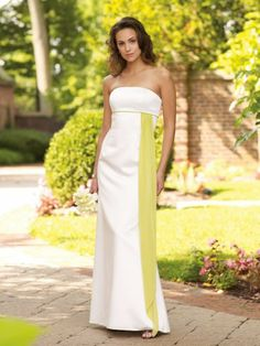 Chiffon Strapless Side Drape Cascading Bodice A-Line Bridesmaids Dress