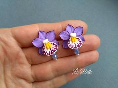 Check out this item in my Etsy shop https://www.etsy.com/listing/572884311/stud-earrings-with-orchids-and-with