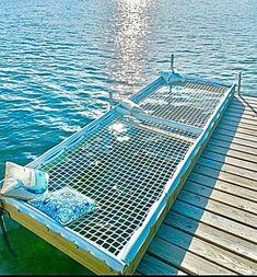 Dock Hammock, Hammock Diy, Water Hammock, Hammock Ideas, Hammocks, Building A Dock, Design Patio, Design Design, Design Table
