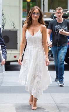 Minka Kelly dons a sweet white sundress and classic aviator shades while out in NYC. Minka Kelly Style, Minka Kelly Hair, Hottest Photos, Spring Summer Fashion, Celebrity Style, Fashion Show, People, Portrait, Celebs