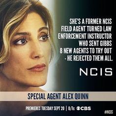 Get to know #NCIS Special Agent Quinn. @ncisalexquinn