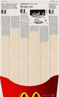 McD #ad #newspaper