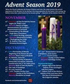 Advent season including Latin, Byzantine, and Maronite Catholic feasts.