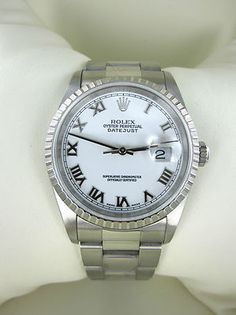 GENTS ROLEX OYSTER PERPETUAL DATEJUST WATCH STAINLESS STEEL 16220 YEAR 2002 MENS  $4,500 or make an offer
