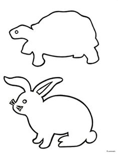 These are original, hand-drawn outlines of a tortoise and a hare, available at no charge. In my third grade class, students create their own shadow puppet fables. Most children are familiar with the tale of The Tortoise and Hare, so I use it as a sample. Hare & Tortoise, Traditional Tales, Traditional Stories, Animal Outline, Animal Templates, Toddler Fun, Toddler Crafts, Jack Rabbit, Shadow Puppets