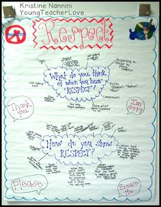 Respect Anchor Chart -- great idea for beginning of the year