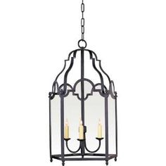 Check out the Visual Comfort CHC3414BR Chart House 3 Light French Market Pendant in Black Rust priced at $524.90 at Homeclick.com.