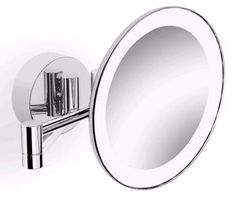 Parisi L'Hotel Round Magnifying Swivel Mirror with Light from Domayne Online