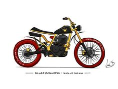 Racing Cafè: Motorcycle Art - Doodwheels
