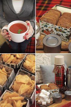 Picnic ideas for a cozy Winter picnic.
