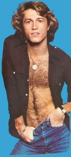 Andy Gibb pop star. Hahaha men should not have camel toes ...