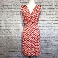 f3b26eb5d3dc0 ANA Women Dress Plus Size 1X Orange White Sleeveless Summer Sundress Stretch