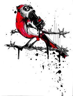Gas mask Cardinal Ink – Gas mask – # … – Graffiti World Trash Polka Tattoos, Tattoo Trash, Gas Mask Art, Masks Art, Gas Mask Drawing, Trash Polka Art, Tattoo Drawings, Art Drawings, Gas Mask Tattoo