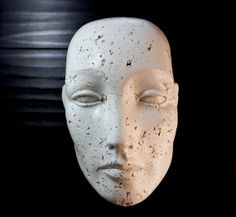 Beautiful Male Head Sculpture Rough Texture Wall by MerelyEclectic, $25.00