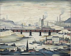 Laurence Stephen Lowry (1887-1976)  Industrial Panorama (1954) oil on canvas 61 x 76.2 cm