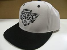 NHL LA Kings Gray 2 Tone Snapback Cap Old School Retro by Reebok.  10.04.  From the Vintage NHL Collection. . Size is a One Size Snap Back. cbcf2fccfde7