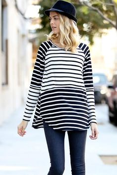 Long sleeve two-toned casual top. Pair with white or denim jeans and a long A+A necklace. Fits true to size. Model is wearing a small. Holiday Boutique, Casual Tops, Denim Jeans, Bell Sleeve Top, Long Sleeve, Model, How To Wear, Fashion, Moda