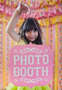 cute photo booth sign