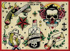 Flash 3 By Brian Kelly Cowgirl Skull Tattoo Designs Canvas Art Print