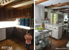 Our Kitchen Makeover (Before and Afters and a Full Source List) by Dear Lillie  One of the most inspiring blogs ♥