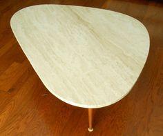 MId Century Triangular Amoeba Travertine Coffee table by MidCenturyFLA on Etsy