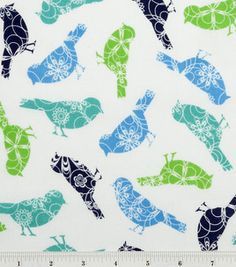 Love this cotton print! #birds