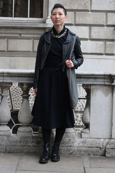 London Fashion Week street style spring/summer 2014 Hey @Enid Hwang! I was looking for street style on the interweb and found you!