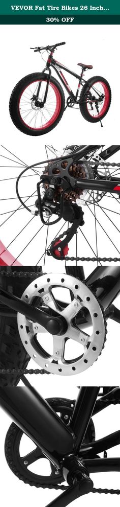 """VEVOR Fat Tire Bikes 26 Inch 7 Speed Fat Mountain Bike Men'S Powerful Disc Brakes Gravity Monster Fat Tires Bicycle (26 inch 7 speed). 26"""" Beach Cruiser Bike 7 Speed Fat Tire Men Mountain Bike Dirt Snow Come and check on our new product for out-door sports lovers--26"""" fat tire wheel mountain bike! Made with top components, this model includes external 7 speed SHIMANO gear discs, strong steel frame, mechanical disc brakes and mountain tire. It offers super sized fun for regular ride at…"""