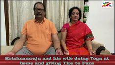 Rebal Star Krishnam Raju and his Wife Shares Healthy Yoga tips in Corona...