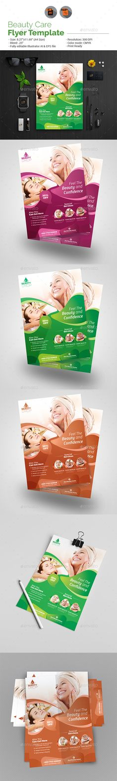 Beauty Care Flyer Template — Vector EPS #comb #fashion • Download ➝ https://graphicriver.net/item/beauty-care-flyer-template/19062322?ref=pxcr