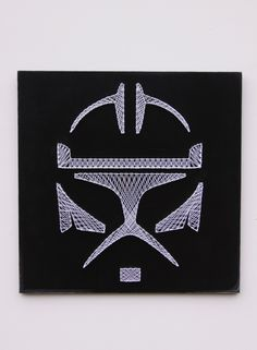 Star Wars Storm Trooper String Art - Visit our site to order your own custom sign! www.hiddenstonearts.com