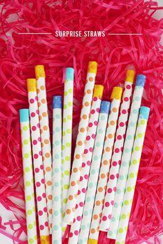 In Honor Of Design: Easter Surprise Straws DIY