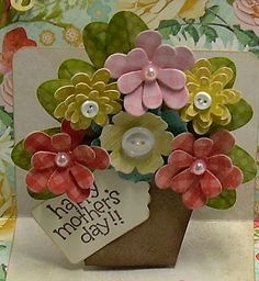 I decided that I wanted to try a pop up card. I hadn't made one yet, and decided that my Mom would really like one for Mother's Day. I...