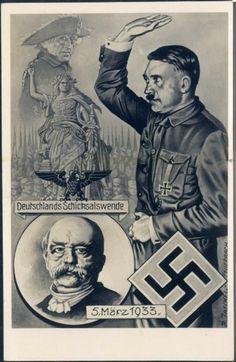 - Tournant dans le destin de  l'Allemagne 5 mars 1933. - Change in Germany's destiny, March 5th 1933