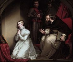 Fecknam's interview with Lady Jane Grey in the Tower by Henry Pierce Bone after James Northcote.