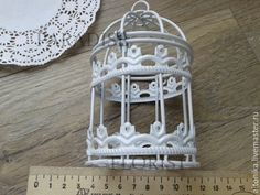 Купить Клетка декоративная - белый, клетка, клетка для декора, клетка декоративная, декоративный элемент, Декор