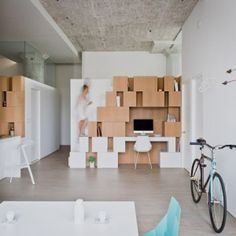 Doehler+loft+renovation+by+SABO+Project++features+an+irregular+clustered+storage+unit