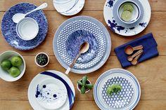 Trend: wit met blauw servies