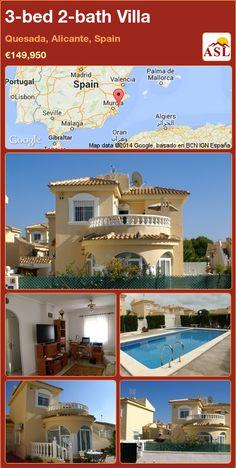 3-bed 2-bath Villa in Quesada, Alicante, Spain ►€149,950 #PropertyForSaleInSpain