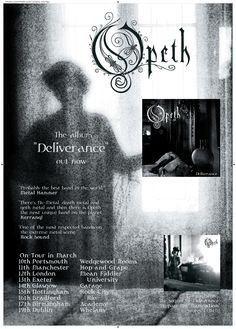 Opeth - Deliverance A2 promotional poster. Client: Music For Nations. Circa 2003. © Sean Mowle.