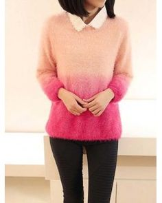 Omber Peach Pink Sweater