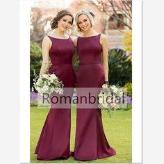 2018 Long bridesmaid dress,Floor-length Simple Sleeveless Bridesmaid Dress, Sweetheart Bridesmaid Dresses,Burgundy Bridesmaid Dresses, BD0404