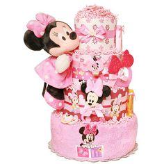 Newborn Minnie Mouse Diaper Cake | Minnie Mouse Diaper Cake 178 00 Diaper Cakes Mall Unique ... | Baby S ...