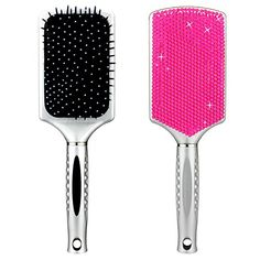 YINUO Women's Handcrafted Bling Bling Rhinestones Massaging Paddle Hair Brush Silver/Rose red YINUO http://www.amazon.com/dp/B00Y4JZY5O/ref=cm_sw_r_pi_dp_XVHnwb0HJ3WBF