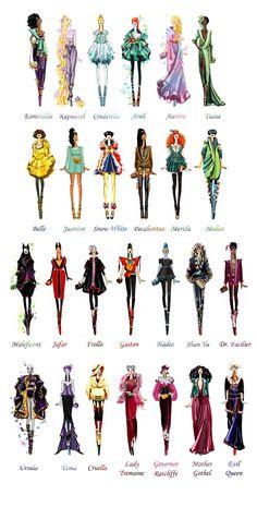 ディズニー・プリンセスと悪役の魔女がスーパーモデルだったら : きよおと-KiYOTO