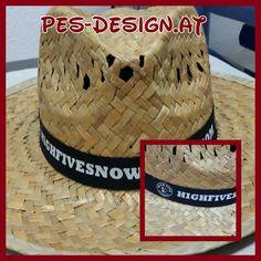 Sommerhut mit bedrucktem Hutband