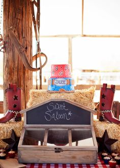 Savvy Styled Sessions & Events: Half Birthday at the Ranch! party decor & sweets @Beth Obermeyer - Lizzie Bee Photography