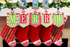 Cute, festive Christmas Banner! #chickabug